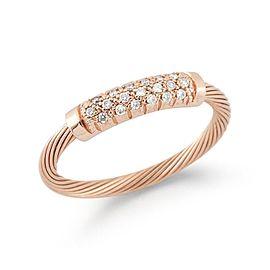"14 Karat Rose Gold Wire ""id"" Ring"
