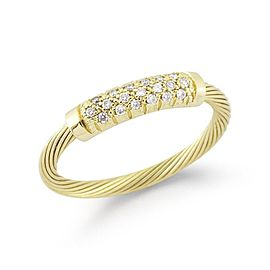 "14 Karat Yellow Gold Wire ""id"" Ring"