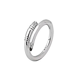 TZURI White Gold Mini Signature Ring