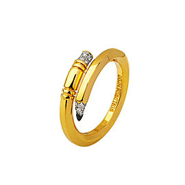 TZURI Yellow Gold Mini Signature Ring