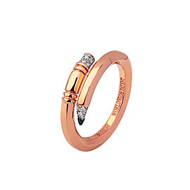 TZURI Rose Gold Mini Signature Ring