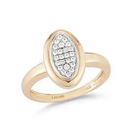 I.Reiss 14K Yellow Gold 0.24 Ring Size 7