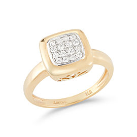 I.Reiss Polish-finished Square-shaped Ring