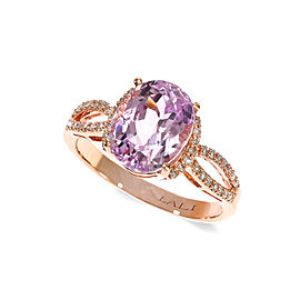 14k Rose Gold Kunzite Ring Size 7