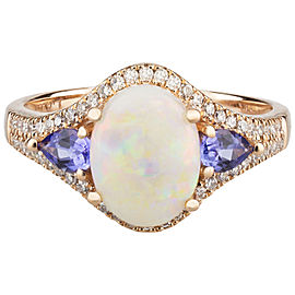 14k Rose Gold Opal Ring Size 7