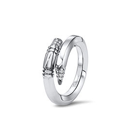 TZURI White Gold Small Signature Ring
