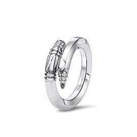 TZURI White Gold Small Signature Ring