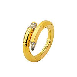 TZURI Yellow Gold Small Signature Ring