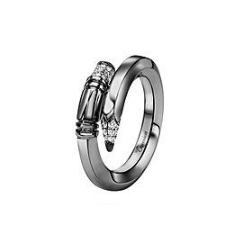 TZURI Black Gold Small Signature Ring