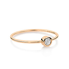 GINETTE NY 18K Rose Gold Medium Lonely Diamond Ring