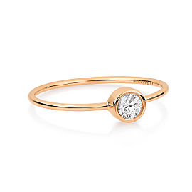 GINETTE NY 18K Rose Gold Large Lonely Diamond Ring