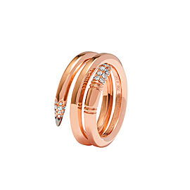 TZURI Rose Gold Serpent Ring