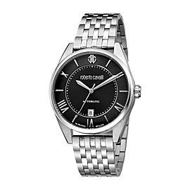 Roberto Cavalli Black Silver Stainless Steel RV1G013M0076 Watch