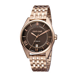 Roberto Cavalli Chocolate Rose Gold Stainless Steel RV1G013M0086 Watch