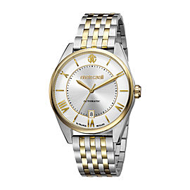 Roberto Cavalli Silver Two Tone SS/IPYG Stainless Steel RV1G013M0096 Watch