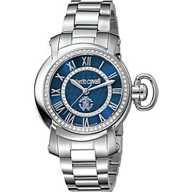 Roberto Cavalli Blue Silver Stainless Steel RV1L004M0076 Watch
