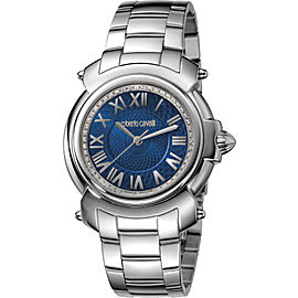 Roberto Cavalli Blue Silver Stainless Steel RV1L005M0046 Watch