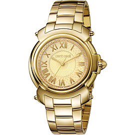 Roberto Cavalli Gold IPYG Stainless Steel RV1L005M0056 Watch
