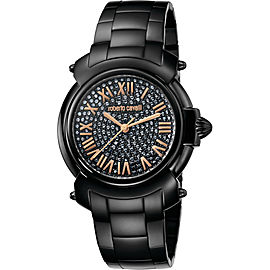 Roberto Cavalli Black/Full Stones Black Stainless Steel RV1L005M0086 Watch