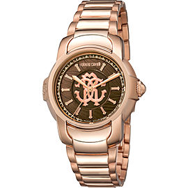 Roberto Cavalli Chocolate Rose Gold Stainless Steel RV1L007M0046 Watch