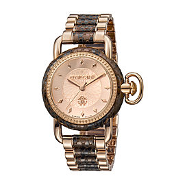Roberto Cavalli Rose Gold Two Tone SS/IPRG Stainless Steel RV1L017M0146 Watch