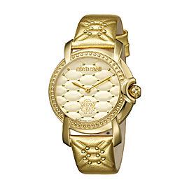 Roberto Cavalli Champagne Gold Calfskin Leather RV1L019L0046 Watch