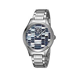 Roberto Cavalli Dark Blue Silver Stainless Steel RV1L041M0066 Watch