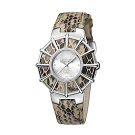 Roberto Cavalli Silver Cream Stainless Steel RV2L009L0016 Watch
