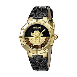 Roberto Cavalli Black Black Calfskin Leather RV2L011L0066 Watch