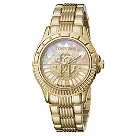 Roberto Cavalli Gold MOP Gold Stainless Steel RV2L014M0076 Watch