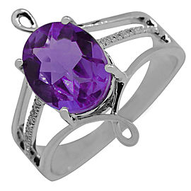 14k White Gold Amethyst Ring Size 7