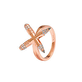 TZURI Rose Gold X Ring