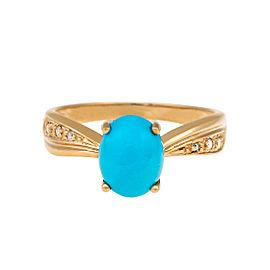 14k Turquoise Ring