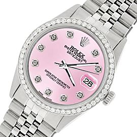 Rolex Datejust Steel 36mm Jubilee Watch/1.1CT Diamond Light Pink Dial