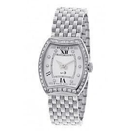 Bedat & Co. No 3 Diamond Dial & Bezel Stainless Steel Womens Watch