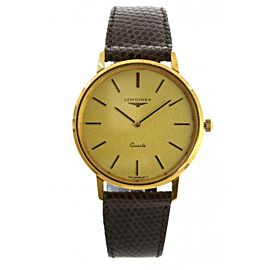 Longines 21586 Gold Toned Stainless Steel Mens Vintage Watch