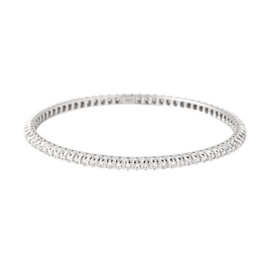 TARA 18k White Gold and 3.37ct Diamond Bangle