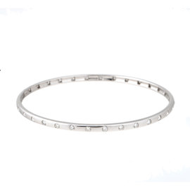 TARA 14k White Gold and 1.15ct Diamond Bangle