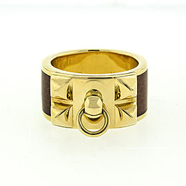 Hermes 18k Yellow Gold Diamond Ring