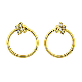 Cartier 18k Yellow Gold Diamond Hoop Earrings