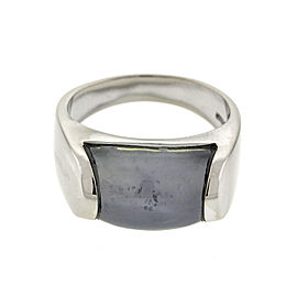 Bvlgari 18k White Gold Chalcedony Ring