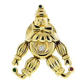 18k Yellow Gold Chopard Clown Pin
