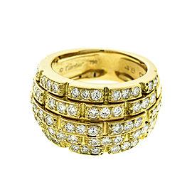 Cartier 18k Yellow Gold Link Diamond Ring
