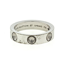 18k White Gold Louis Vuitton Empreinte Ring