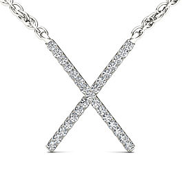 1/10ct TDW Diamond Fashion X Necklace in 10K