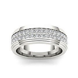 1 1/5ct TDW Diamond Men's Wedding Band In 14K