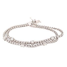 Great looking Double Row 4.13 Carat 7 inch Diamond Line Bracelet