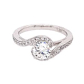 18k White Gold 0.70 Carat RBC Diamond Engagement Ring