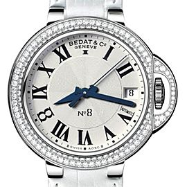 Bedat & Co. N_8 Stainless Steel Diamond Bezel 36.5 mm Womens Watch