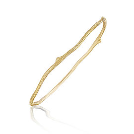 18K Gold Wonderland Thin Twig Bangle